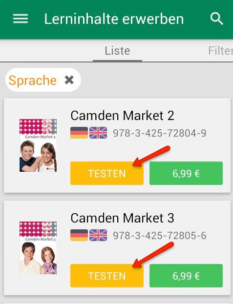 Lerninhalte jetzt auch mit der Mobile-App testbar