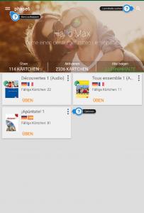 Übersicht Lerncenter mit Android