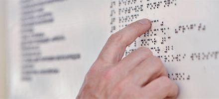 Lesen, ohne zu sehen: Blindenschrift
