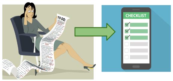 Vom Aufgabenzettel zur To-Do-Liste auf dem Handy