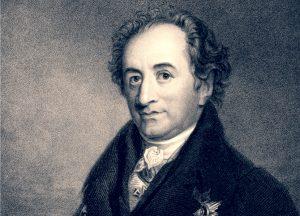 Ein Portrait von Johann Wolfgang von Goethe (1782-1832).