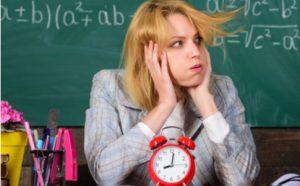 Lehrerin hat Zeitmangel