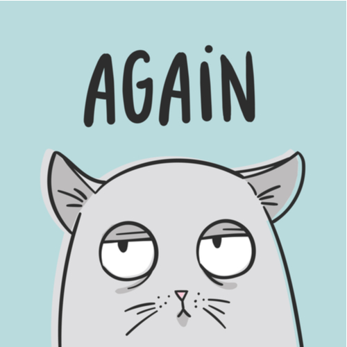 Kommasetzung - Illustration Katze