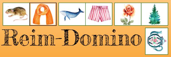 Sprachspiel Reim-Domino mit Bildern