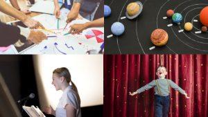 verschiedene Handlungsprodukte im Unterricht